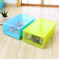 wholesale home clear plastic coloful drawer stacked storage shoe box