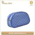 Fashion shell glitter PU leather women makeup cosmetic pouch bag