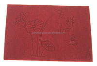 pvc engraving velour surface with pvc backing mat from china