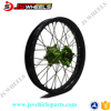 18 Inch Complete Spoked Custom Aluminum Alloy Wire wheels for Kawasaki Motocross Dirt bike