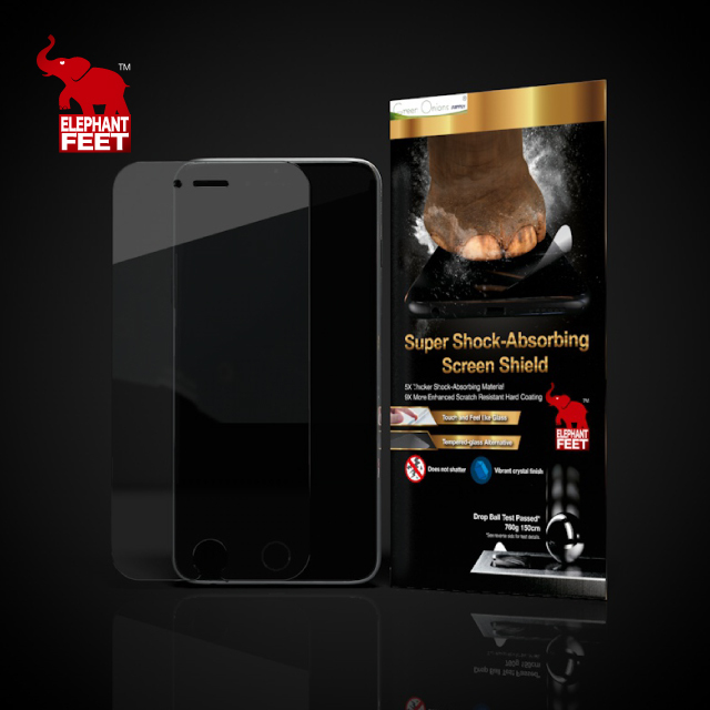 Elephant Feet mobile clear anti-shock front back screen protector for iPhone 7