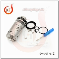 Top selling new products atomizer factory price silverplay rta with best quality hot sale silverplay rda vapor kit for box mods