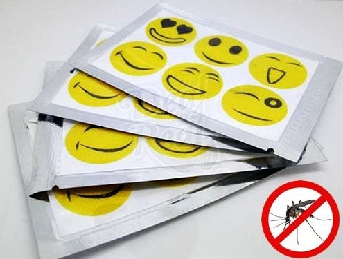 Mosquito repellent smily sticker