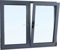 wood grain finish aluminum window