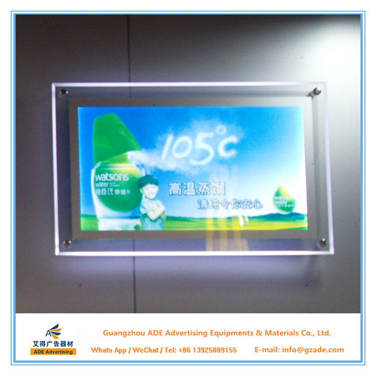 new fashionable stylish LED poster display A3 for Other advertising places
