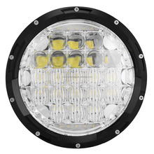 Hot sale!7 inch round 105W 7000lm 12v 24v led h4 headlight/ jeep wrangler led headlight