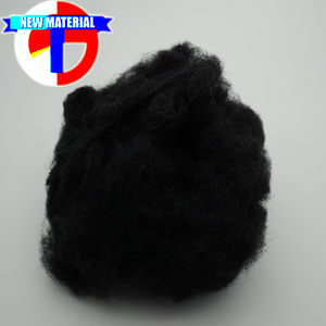 1.4D-25D dope dyed recycled polyester staple fiber , black recycled polyester fiber