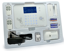 Wireless alarm with LCD display support 32 wireless zones, door sensor,motion detector and siren