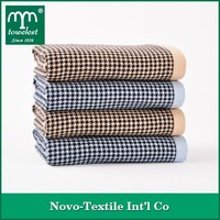 100% Combed Cotton Towel Yarn Dyed Houndstooth Jacquard Hand/Face Towel Special Offers