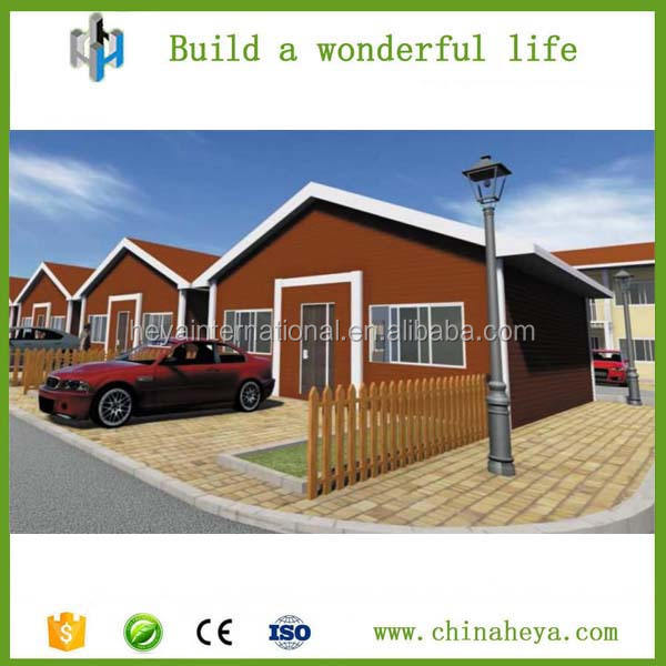 Prefab container wood plastic composite decoration house