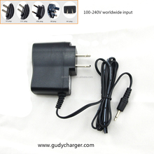 8.4V 600mA Lithium-ion Lipo battery charger for 7.2V 7.4V 2 cells Lithium batteries, used for flashlight torch