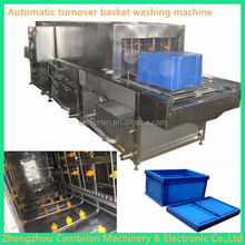 Steam heating automatic plastic tray washing machine turnover basket washer