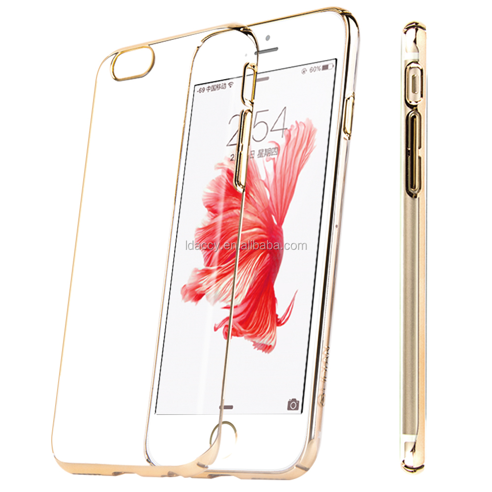 Transparent and shining special phone cover & case for iphone6/6s/6splus case pc