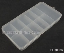 14.5*8*2cm Clear high quality plastic beads jewelry box with 11 compartments