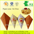 French fry cone 'open side 19': Large Paper Cone
