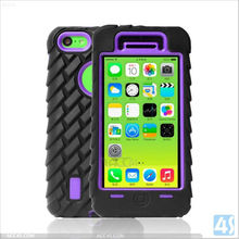 Combo Hard Soft Cover 3 in 1 Hybrid Plastic and Silicone Robot High Impact robot case for iphone 5c P-IPH5CHCSO008