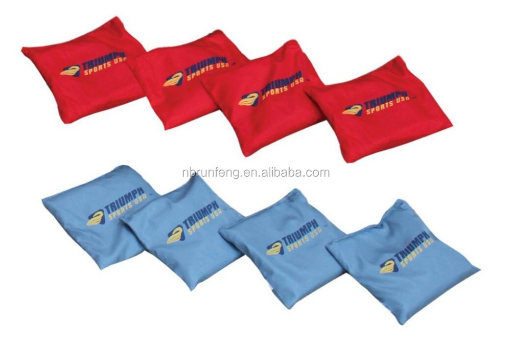 high quality bean bag toss for travelling and training/New Custom Bean Bag Corn Toss with 3 holes