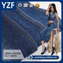 China made new arrival best price 100% cotton denim fabric for jeans and shirts