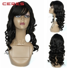 26 inch long curly full lace human hair wig for white women