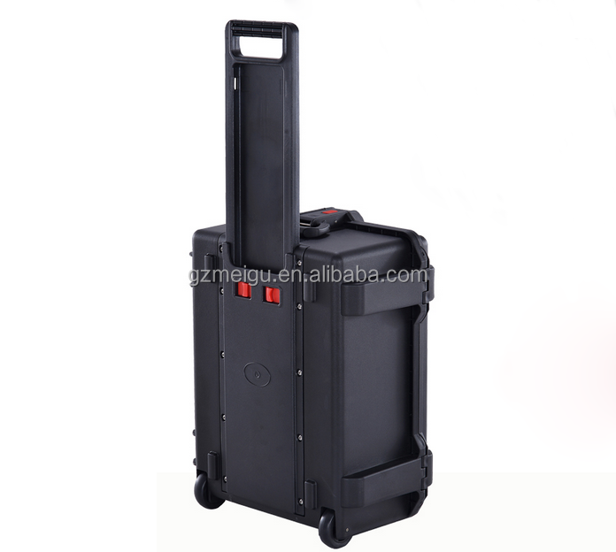 Hard solid portable travel Hard Plastic plywood gun carry cases with wheel_1000002121