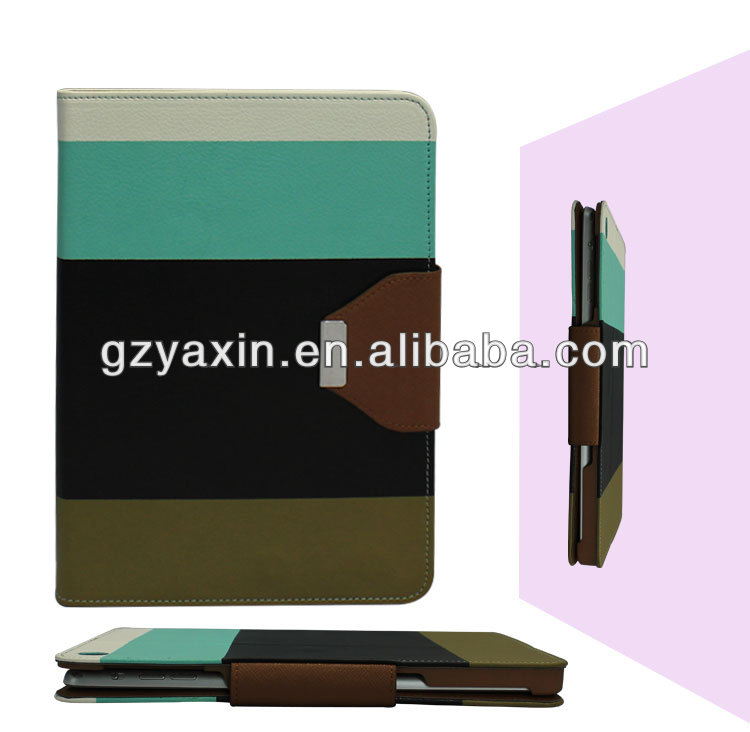new stylish colorful stand belt clip leather case for ipad mini