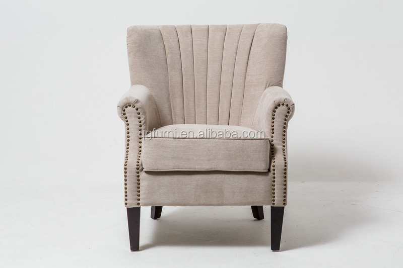 Nailhead trim relax arm chair with high quality