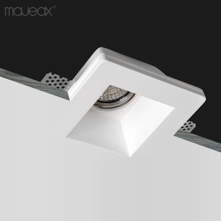 modern IP20 indoor ceiling light trimless plaster gypsum recessed square led downlight for home hotel