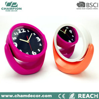 China analog cute table alarm clock with mirror , desktop mirror alarm clock