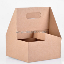 Kraft Paper Coffee Cup Carrier take away box