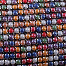 Wholesale Full ceramic mixed color cotton gauze drilling claws rhinestone chain