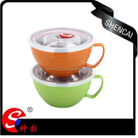 Take away Stainless steel Instant Noodle Bowl with Handel /mixing bowl /insulated bowl