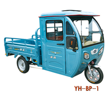 2017 hot sell three wheel 800w Electric cargo tricycle with cabin for good price