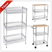 wire Hang basket shelving vegetable and fruit display shelves