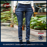 Guangzhou custom made 100% cotton denim ripped new model jeans pants for men promotion
