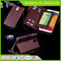 Multi-fonction wallet leather cell phone case with card slots for Samsung N9000
