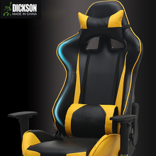 Dickson professional class office gaming racing chair with head rest and waist cushion