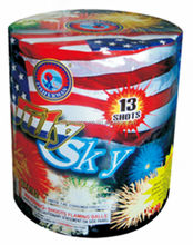 High quality 200 gram small cakes fireworks JULY SKY 13 Shots 1.4d un0336 fireworks & firecrackers for wholesale