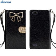 Universal Magnetic Flip Mobile Back Cover Wallet Leather Cell Phone Case Card Holder For Zte Blade Forcen9517