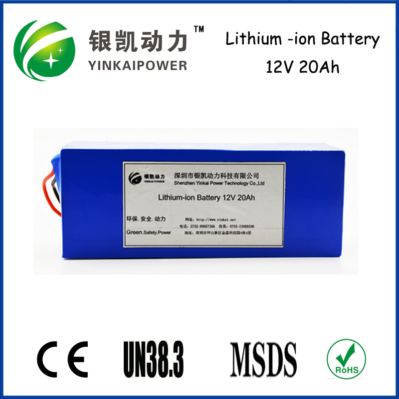 Back up, flashlight, ups li-ion battery pack 12v 20ah battery small rechargeable 12v battery