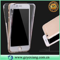 front and back full body tpu clear cover for iphone6/6s protective crystal gel case in stock