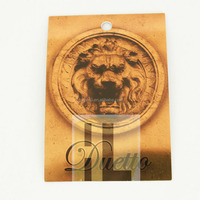 plastic printing printed pet aluminium foil gold silver metallic laminated shinning plant label tag card
