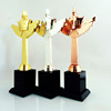 Sandblasting Crystal champions league cup crystal trophy and award