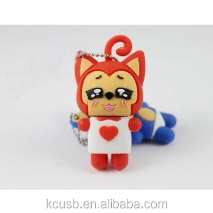 Healing cartoon character Ali the popular fox shape usb2.0 flash memory