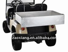 Polished aluminium Rear Cargo Box, utility and universal design golf cart accessories ClubCar, Yamaha and EZGO