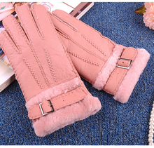 Shearling Touch Screen Gloves Winer Gloves