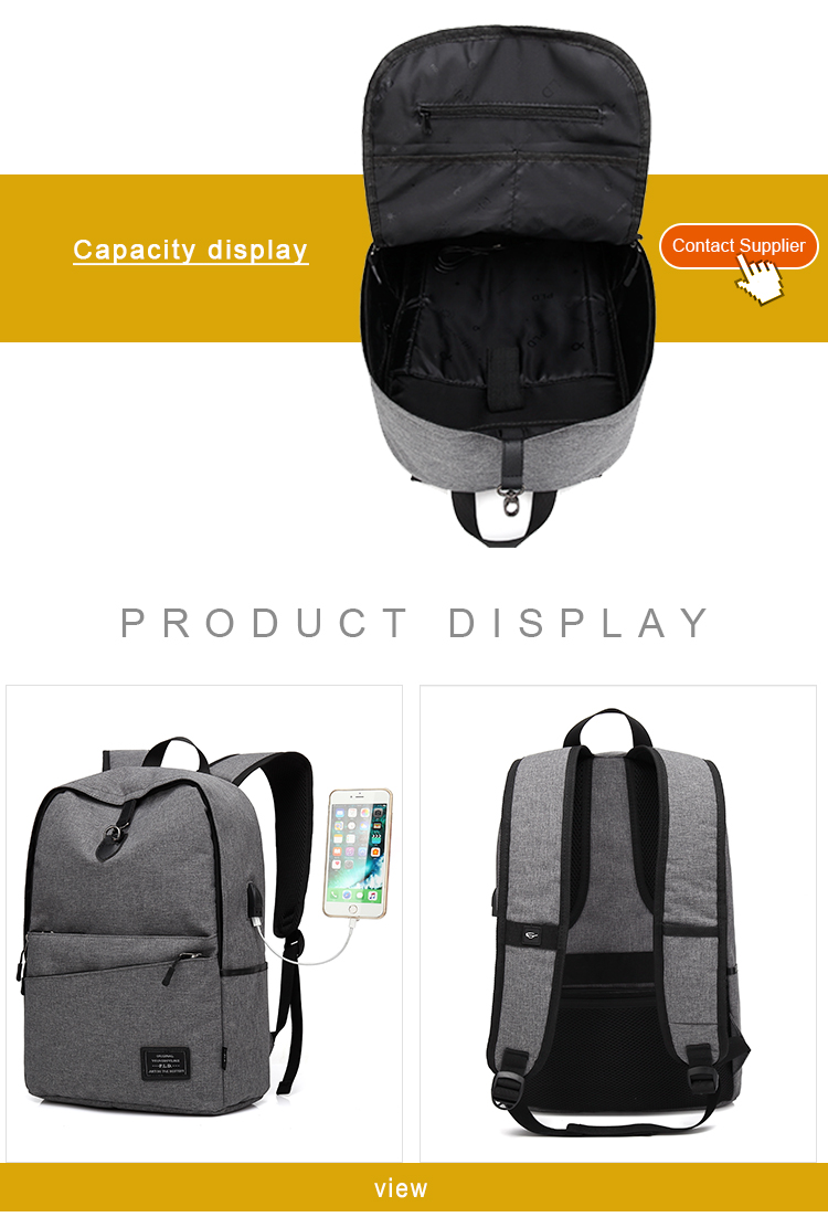 USB Anti-theft Bag Anti Theft Smell Proof Backpack