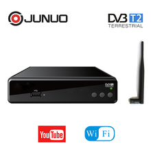 Bestseller sunplus 1509A chipset DVB-T2 digital tv receivers support usb wifi dongle