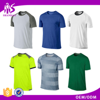 2017 Guangzhou Shandao Factory Hot Sale Men Sport Gym Dri Fit 100% Polyester 160g Stylish Blank T-shirt