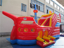 gaint red ship new design inflatable bouncer for kids and adults