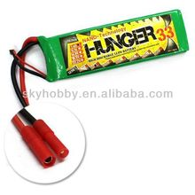 3300MAH 2S 25C MAX 50C 7.4V Car Boat NANO TECH LIPO PACK BATTERY HUNGER